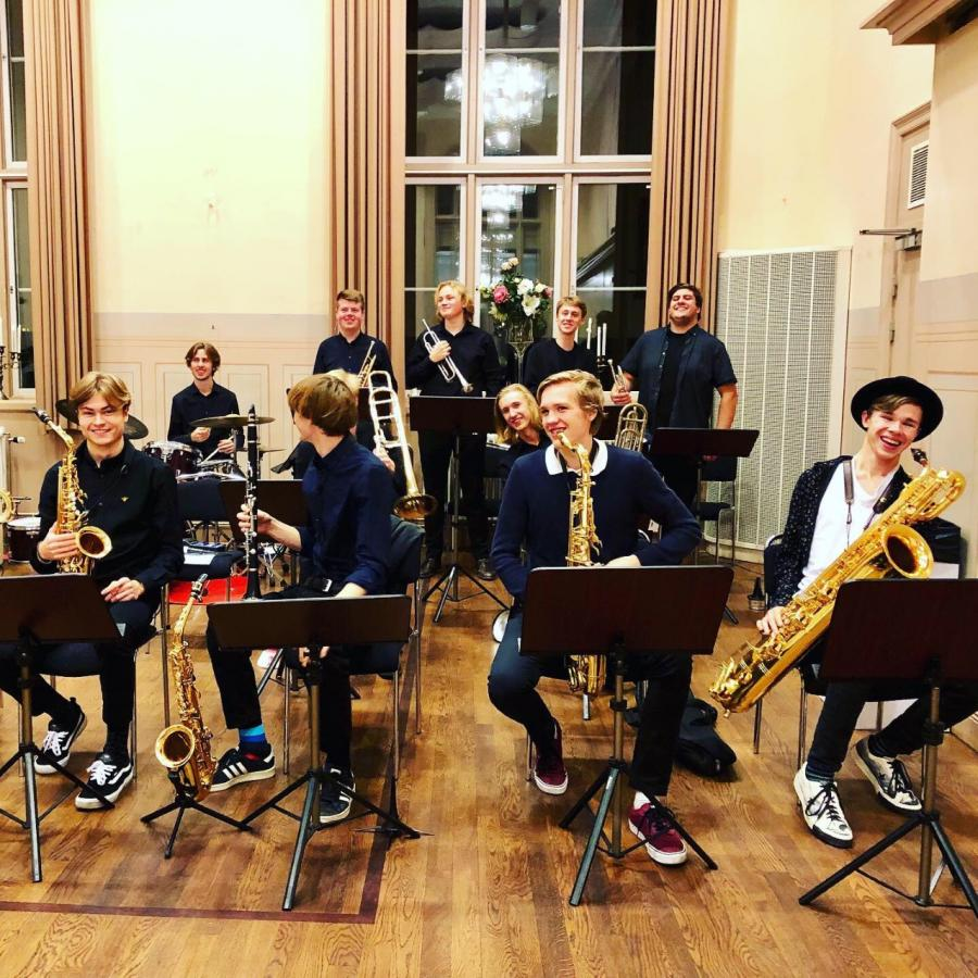 Bild på musiker ur Stockholm Youth Big Band
